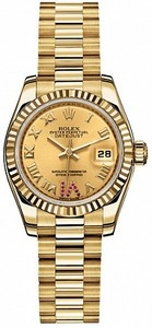 Rolex Datejust 26mm Yellow Gold 179178 Ruby