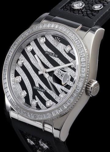 Rolex Datejust (WG-Baguette Diamonds / Black White Diamonds / Rubber-Galuchat) 116189 BBR