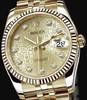 Rolex Datejust (YG-Fluted Bezel / Champagne Jubilee-Diamonds / YG) 116238