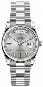 Rolex Day-Date 36mm Platinum 118206 Emerald
