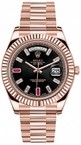 Rolex Day-Date 41mm Everose Gold 218235 Ruby