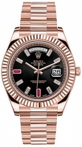 Rolex Day-Date 41mm Everose Gold 218235 Ruby
