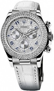 Rolex Daytona Cosmograph 40mm White Gold 116589 RBR Pave