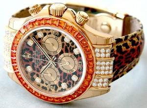Rolex Daytona Special Edition (YG-Diamonds-Sapphires / Leopard Diamonds / Leopard) 116598 SACO