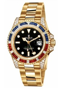 Rolex GMT-Master II (YG-Diamonds-Sapphires-Rubies / Black / YG) 116758 SARU