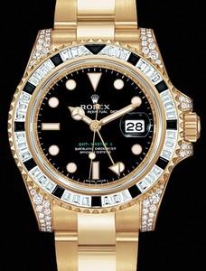 Rolex GMT-Master II (YG-Diamonds-Sapphires / Black / YG-Diamonds) 116758 SANR