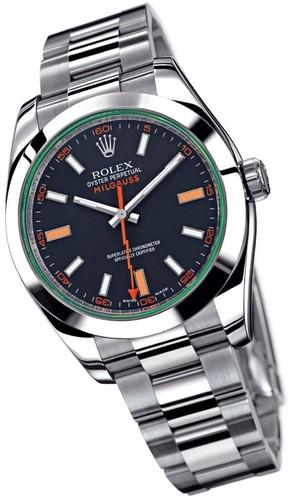 Rolex Milgauss (SS / Black-Green / SS) 116400GV