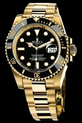 Rolex Submariner Date (YG / Black dial / YG) 116618LN