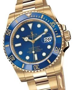 Rolex Submariner Date (YG / Blue dial / YG) 116 618LB
