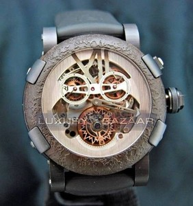 Romain Jerome Titanic-DNA - Rusted steel T-OXY III Chronograph Tourbillon/Black TO.CH.T.OXY3.BBBB.00.BB