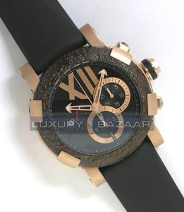 Romain Jerome Titanic-DNA - Rusted steel T-OXY III Chronograph/Pink Gold Mat CH.T.OXY4.2222M.00.BB