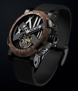 Romain Jerome Titanic-DNA - rusted steel T-OXY III Tourbillon / Black TO.T.OXY3.BBBB.00