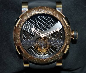 Romain Jerome Titanic-DNA - rusted steel T-OXY IV Tourbillon Rodriguez Trauma/Pink Gold TOR.T.OXY4.2222.00
