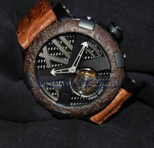 Romain Jerome Titanic-DNA - rusted steel T-OXY IV Tourbillon Ultimate / Black TO.T.OXY4.BBBB.R.00.BB