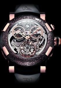 Romain Jerome Titanic-DNA Tourbillon Chronograph (RG / Skeleton / Black Strap) TO.CH.T.OXY3.2222.00
