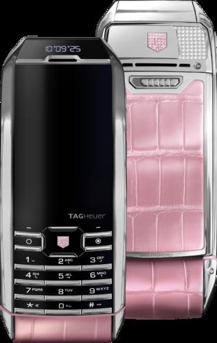 TAG Heuer Meridiist 2 GMT SS Pink Alligator Diamond th4m51a31