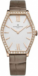 Vacheron Constantin Malte Lady (PG-Diamonds / Silver / Leather Strap) 25530/000R-9742