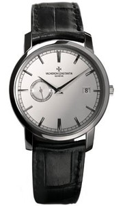 Vacheron Constantin Patrimony Traditionnelle Self-Winding (WG / Silver / Leather) 87172/000G-9301