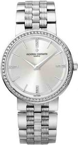 Vacheron Constantin Patrimony Traditionnelle Small (WG-Diamonds/Silver/ Bracelet) 25557/Q01G-9276