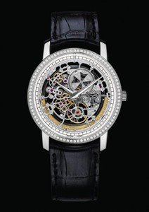Vacheron Constantin Patrimony Traditionnelle Squelette Grand Model (WG / Diamonds) 43578/000G-9393