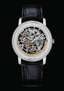 Vacheron Constantin Patrimony Traditionnelle Squelette Grand Model (WG / Diamonds) 43578/000G-9393