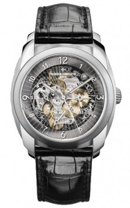 Vacheron Constantin Quai de l'Ile Day Date and Power Reserve(Palladium/Leather Strap) 85050/000D-9341