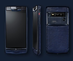 VERTU SIGNATURE TOUCH PURE NAVY LIZARD