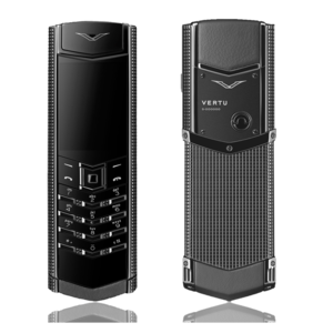 Vertu Signature S Design Clous De Paris Stainless Steel Black PVD