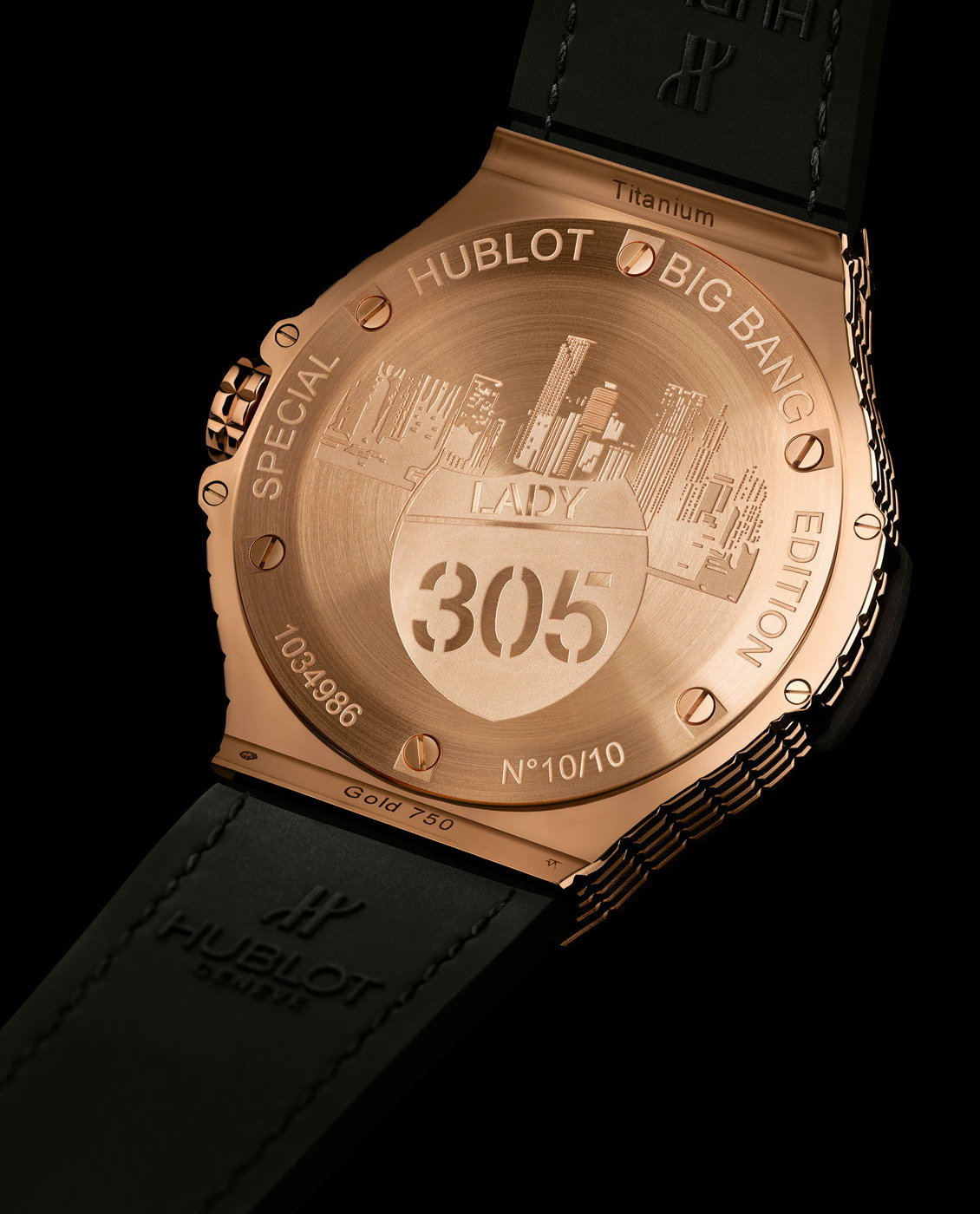 "Hublot Big Bang Caviar ""Lady 305""-gold-back"
