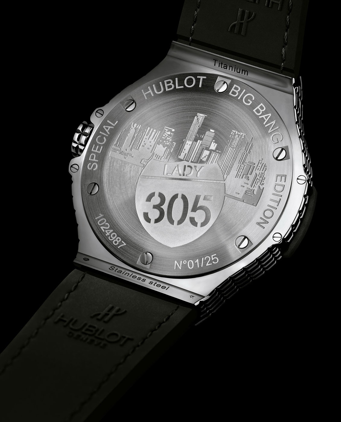 "Hublot Big Bang Caviar ""Lady 305""-steel-back"