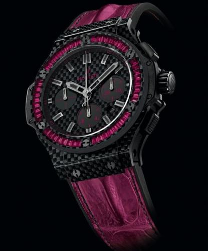 Hublot Big Bang Carbon Bezel Baguette Collection-1