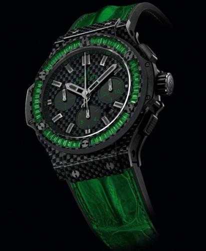 Hublot Big Bang Carbon Bezel Baguette Collection-2