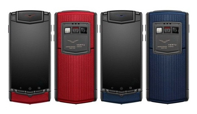 Vertu Ti Sunset Red & Midnight Blue Editions